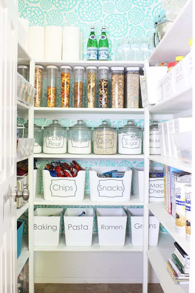 Add containers to organize your pantry
