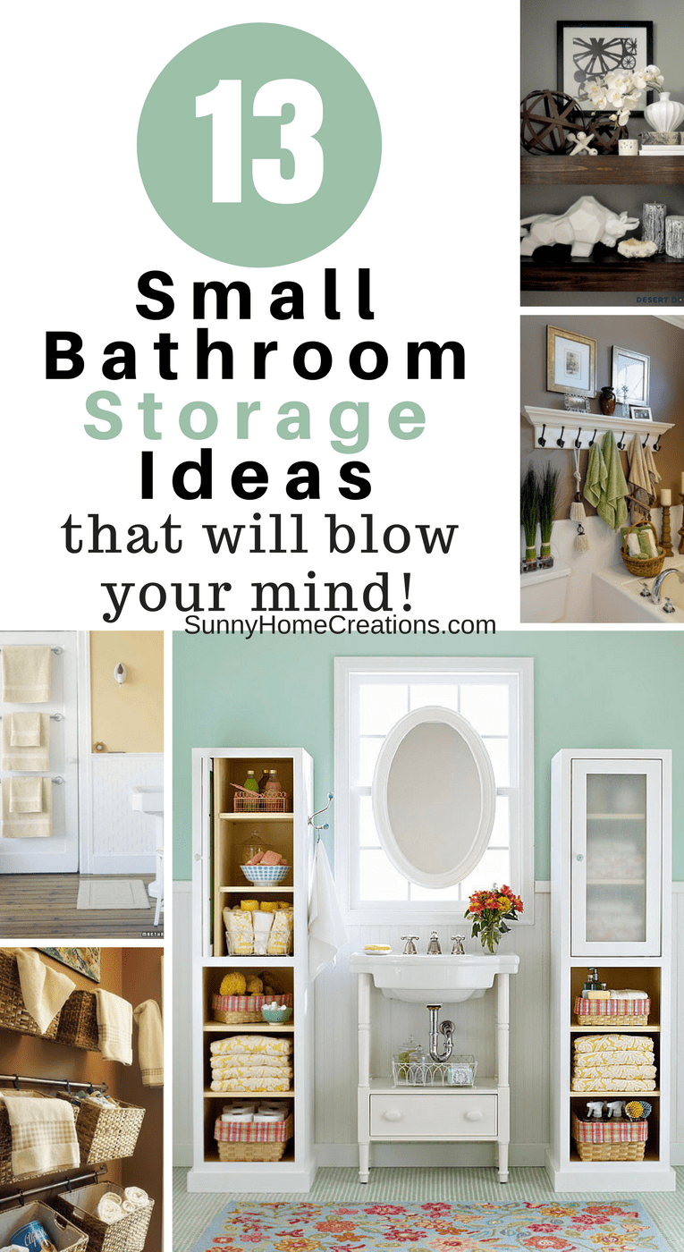 13 Mind Blowing Small Bathroom Storage Ideas – Sunny Home Creations