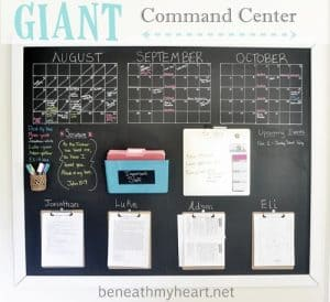 giant chalkboard command center