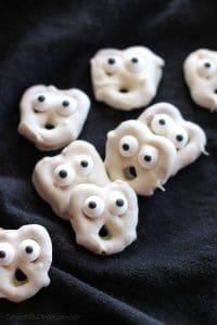 Ghost Pretzels Halloween Party Food Ideas