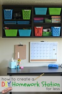 budget friendly homework station