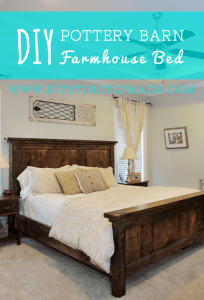 DIY Pottery Barn Farmnouse Bed