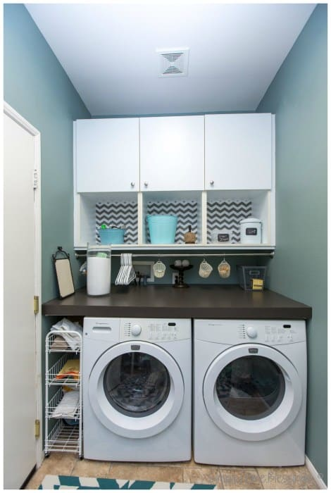 small laundry storage ideas