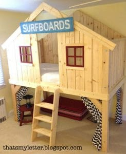 Pottery Barn Inspired Fort Clubhouse Bed