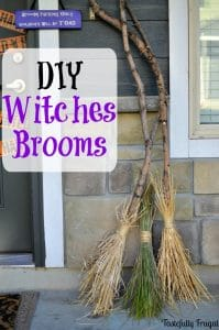 DIY Witches Broom Halloween Craft