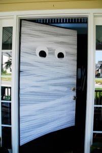 Halloween Door Decoration Mummy Door