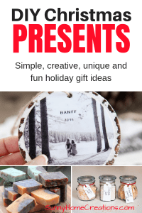 DIY Christmas Presents - Simple, creative and fun holiday gift ideas.