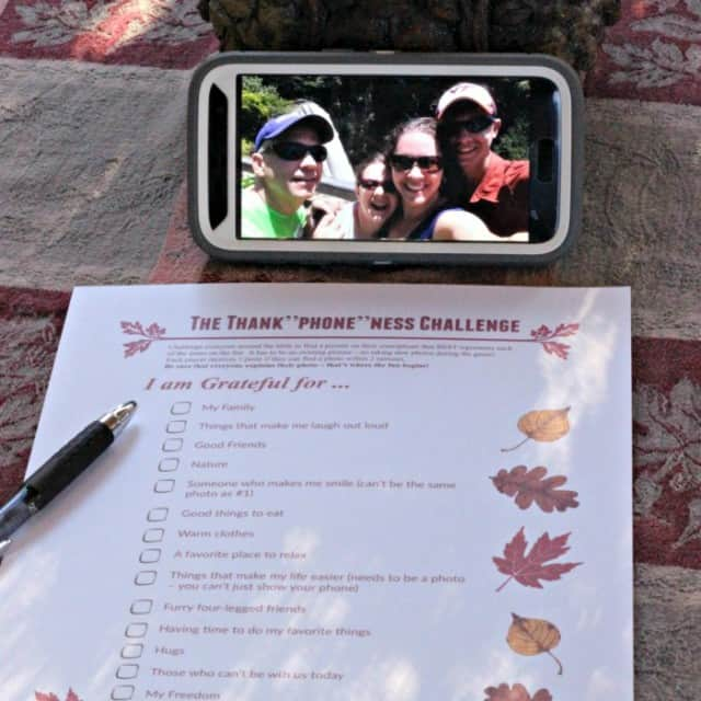 Thanksgiving Phone Scavenger Hunt Gratitude Game