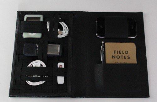 DIY Christmas Present Book travel tech holder