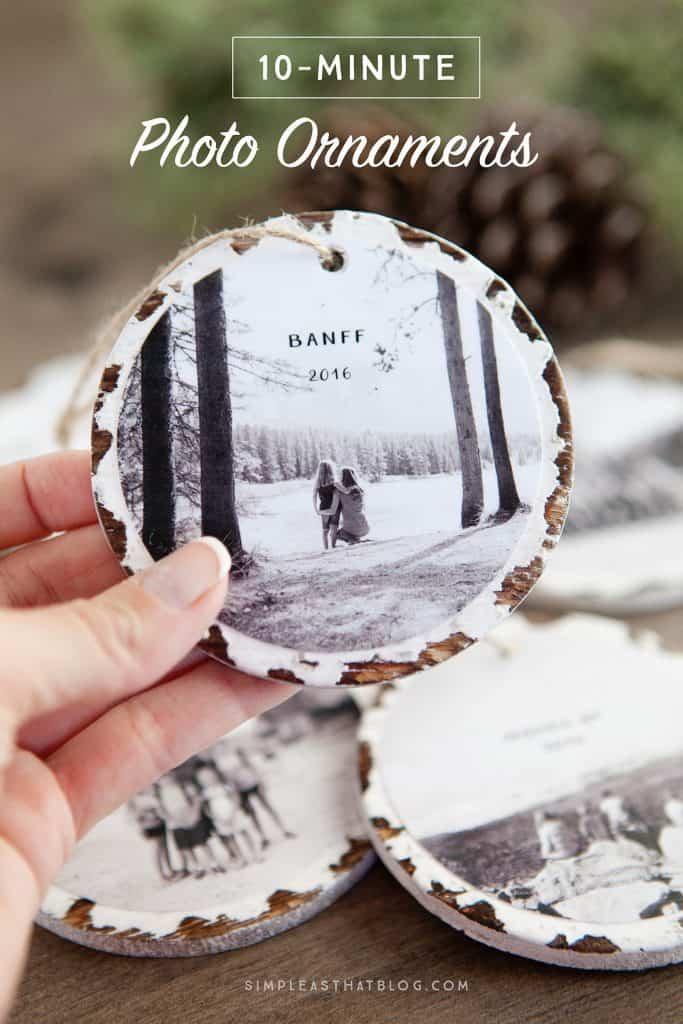 DIY Christmas Gift Photo Ornament