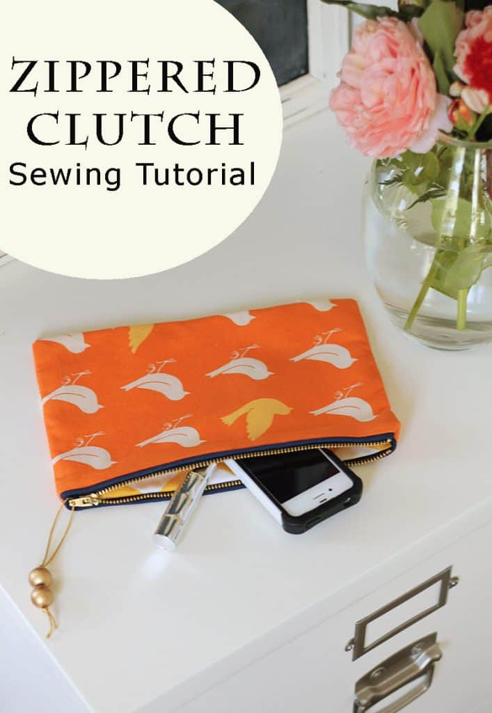 DIY Christmas Gifts zippered clutch