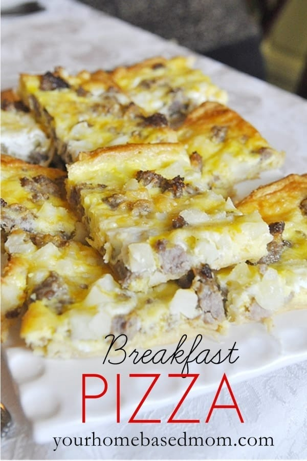 Breakfast Pizza Casserole with Crescent Rolls