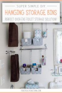 Amazing Over Toilet Organization Storage Ideas Sunny Home Creations