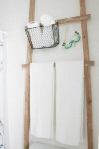 Over Toilet Storage Ladder