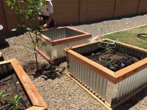 Corrugated Metal Raised Garden Bed Box