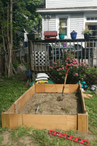 Raised Garden Bed from Dresser Drawers