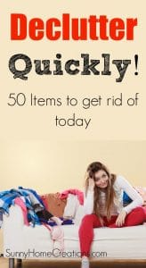 Declutter with these 50 items to get rid of