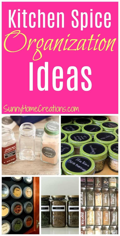 Kitchen Spice Organization Ideas