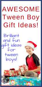 Awesome tween boy gift ideas. Brilliant and fun gift ideas for tween boys
