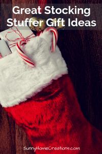 Great Christmas stocking stuffer ideas.