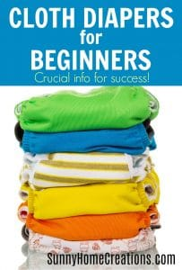 Cloth diapers for beginners.