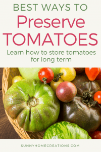 How to preserve tomatoes for long term use.