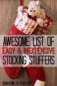 Awesome list of easy and inexpensive stocking stuffers