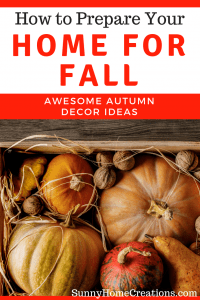 How to decorate your home for fall. Awesome autumn decor ideas.