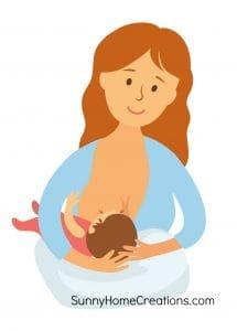 Breastfeeding using the football hold