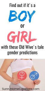 Old Wives Tale Baby Gender Predictions